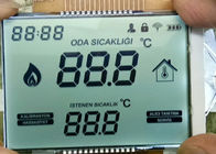Transflective HTN LCD Display / Custom Lcd Positive Display For Indoor Thermostat